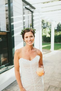 J Bride wearing Wtoo by Watters Pippin wedding gown/ Photo by Sargeant Creative / California Wedding/ Boutique Wedding
