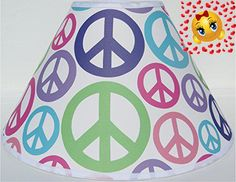 #manythings This #Peace #Sign Lamp Shade is the perfect compliment to our other Peace Sign Nursery Wall Décor Products, just type in Presto Chango Décor in the Am...