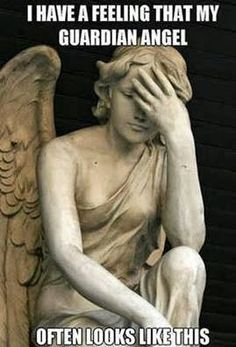 Check out: Funny Memes - Guardian angel. One of our funny daily memes selection. We add new funny memes everyday! Bookmark us today and enjoy some slapstick entertainment! Facepalm Meme, Catholic Memes, Funny Quotes, Funny Memes, Funniest Quotes, Hilarious Jokes, Memes Humor, Clumsy Quotes, Funny Friendship Quotes
