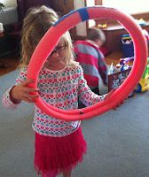 use a pool noodle to create a marble track, works on bilateral coordination and visual motor skills