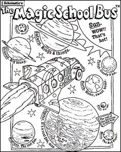 The Magic Bus - 999 Coloring Pages