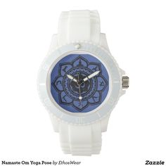 40% Off Until Midnight PT 10-5 !! Namaste Om Yoga Pose Wrist Watch