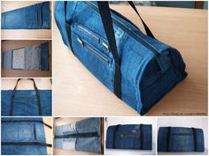 How to DIY Cool Handbag from Old Jeans | www.FabArtDIY.com