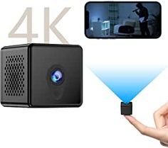 """4K Video Resolution & 2 Million High Picture Pixel: The mini camera takes videos in ultra HD 3840×2160P and photos in 20 million high pixels. It equipped with the latest 1/2.5"""" color CMOS sensor which helps reflect the superior image quality of the screen than other mini cameras on the market. Provide you with the high definition visual feast! It only works with 2.4GHz networks, not 5G. Wifi Spy Camera, Pinhole Camera, Wireless Camera, Hidden Camera Pen, Small Camera, Best Security Cameras, Covert Cameras, Take Video, Products"""