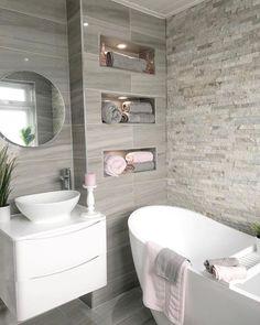 Small Bathroom Interior, Bathroom Design Luxury, Modern Bathroom Design, Small Bathroom Layout, Dream Bathrooms, Beautiful Bathrooms, Light Grey Bathrooms, Bathroom Inspiration, Bathroom Ideas