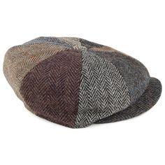 Failsworth Hats Harris Tweed Lewis Newsboy Cap - Multi-Coloured f706f6306345