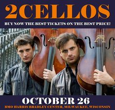 2Cellos in Milwaukee at BMO Harris Bradley Center on October 26. More about this event here https://www.facebook.com/events/1988472981384317/