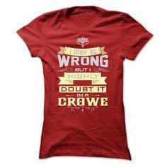 nice CROWE Name Tshirt - TEAM CROWE, LIFETIME MEMBER Check more at http://onlineshopforshirts.com/crowe-name-tshirt-team-crowe-lifetime-member.html