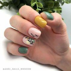 Manicure Y Pedicure, Shellac Nails, Diy Nails, Stylish Nails, Trendy Nails, French Manicure Nail Designs, Minimalist Nails, Green Nails, Perfect Nails