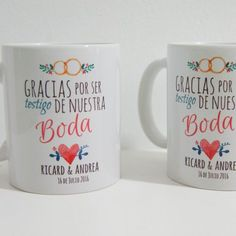tazas personalizadas para bodas Wedding Cards, Baby Shower, Tableware, Ideas Para, Wedding Ideas, Outfits, Amor, Personalized Cups, Accessories