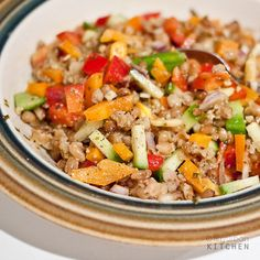 Wheat berry salad by tinyurbankitchen, via Flickr - cook the wheat berries in rice cooker