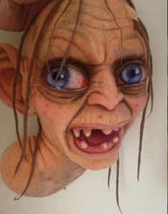 Needle felted Golum by Richard Hanna.