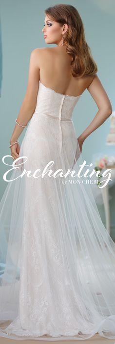 Enchanting by Mon Cheri Spring 2016 ~Style No. 116134 #laceweddingdress