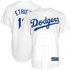 Los Angeles Dodgers #16 Andre Ethier White Replica Baseball Jersey_Andre Ethier Baseball Jersey