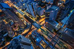 "X by porbital | Author's note: ""Taken from a rooftop floor of a building at Chong Non Si/Sathorn - a business district of Bangkok."""