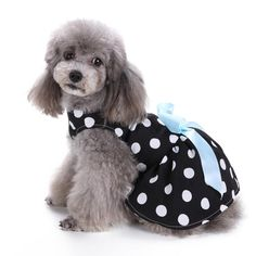 Swift-Buy Cute Polka Dot Ribbon dog clothes for small dogs girl DRESS dogs products for pets   #me #womenfashion #beautiful #phone #womenfashiontips #fun #art #instadaily #instagood #womenfashionpost