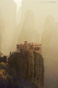 senerii:  Meteora Monastery by ~KirlianCamera