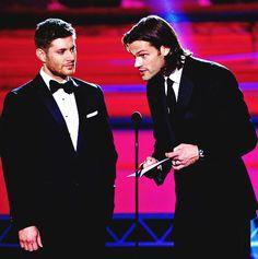 Jensen Ackles & Jared Padalecki, Critic's Choice Awards 2014 #SupernaturalCast #J2