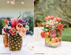 Querendo economizar com a decoração do casamento e mesmo assim ter aquele visual dos sonhos? Invista no abacaxi! Isso mesmo!  Agora no verão as decora