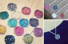 "GroopDealz | Silver Wax Seal Charm Necklace. This could be a cute ""just cuz your my friend"" gift!"