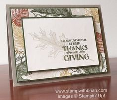 Vintage Leaves, Lighthearted Leaves, Stampin' Up!, Brian King