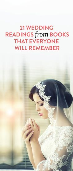 21 Wedding Readings From Books That Everyone Will Remember