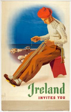 Ireland, mid-1960s, poster art in tourism went into a decline.