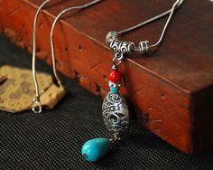necklace necklace necklace   Tibetan hollow hydrangea necklace
