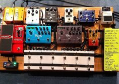 The pedal board of Bobby Strand — Guitarist for Bethel Music.