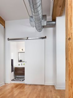 Our stainless steel interior & exterior barn door hardware has durable poly wheels & offers more flexibility in the install process. Ensure years of smooth operation with our box rail sliding door hardware. Exterior Barn Door Hardware, Exterior Sliding Barn Doors, Sliding Bathroom Doors, Bathroom Barn Door, Sliding Door Design, Sliding Barn Door Hardware, Sliding Doors, Door Hinges, Front Doors