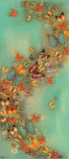 Chinese Green Art Print by Lily Greenwood at King & McGaw Art Papillon, Decoupage, Contemporary Art Prints, Butterfly Art, Green Butterfly, Butterfly Kisses, Butterfly Design, Beautiful Butterflies, Butterflies Flying