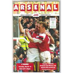 Arsenal v Torino 1993/1994 Football Programme European Cup Winner's Cup