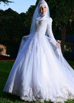 Beautiful muslim wedding dress