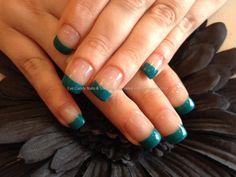 Gel polish on acrylic nails
