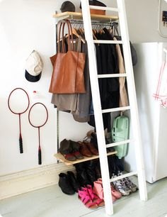 That title is an outright lie. No closet = major worries. If you, poor soul, have somehow willingly committed yourself to living quarters that lack abona-fidecloset space, you will know the great…