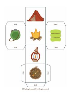 Dobbelen....en kruis aan! 1-2 Camping Games, Camping Theme, Cub Scouts, Classroom Themes, Dice, Preschool, Stage, Language, Activities