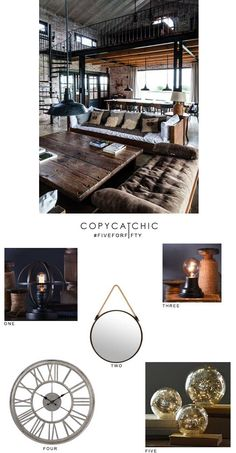 Industrial home deco