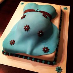 - Belly cake for a boy