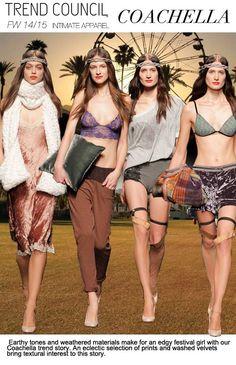 F/W 2014-15, women's intimates, key trends, coachella
