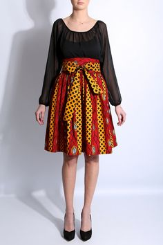 printed pleat skirt by kalycacollection on Etsy, €169.00