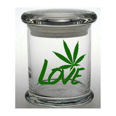 Weed Stash Jar Cannabis Container Medical Marijuana Cross Bong Ganja Hemp Hippy MMJ Colorado California