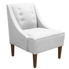 Matilda Accent Chair in Twill White at Joss & Main