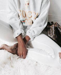 $1,200 Hooded Cotton Sweatshirt with Gucci Logo Weird Fashion, Fashion 101, Fashion Boots, Fashion Women, High Fashion, Love Fashion, Fashion Essentials, Style Essentials, Gucci Sweatshirt