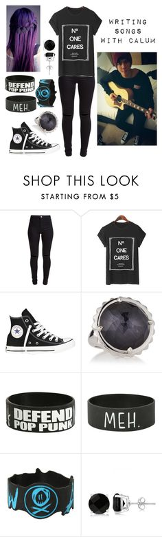"""""""5sos Preference: Writing songs with Calum"""" by jazziwheat ❤ liked on Polyvore featuring New Look, Converse, Stephen Webster, INDIE HAIR, Allurez, women's clothing, women, female, woman and misses"""