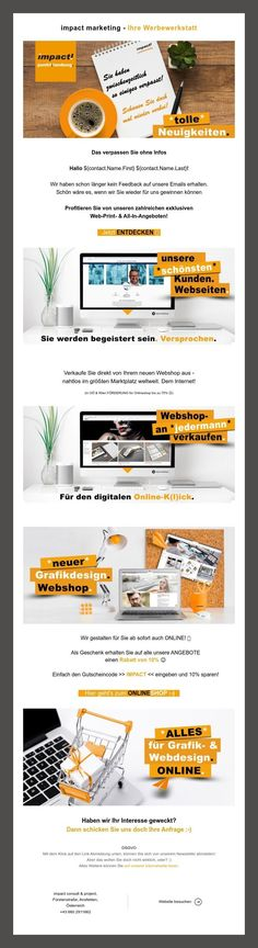 "Heißt das ""auf Wiedersehen""? 👀📧🧡${contact.Name.First} ${contact.Name.Last} Grafik Design, Marketing, Shopping, Website"