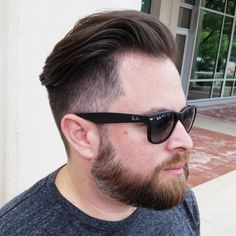 Amazing Side Fade Hairstyles  #amazing #hairstyles Fade Haircut With Beard, High Fade Haircut, Beard Haircut, Short Beard, Short Hair Cuts, Mens Hairstyles Fade, Side Part Hairstyles, Amazing Hairstyles, Pompadour Hairstyle