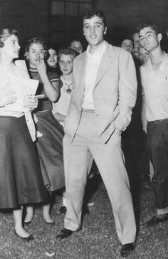 Elvis with fans in Amarillo, Texas, October 13, 1955.