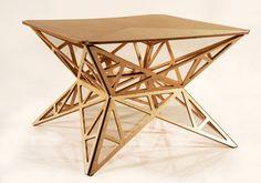 Foldable pop-up table by Estonian designer Jaanus Orgusaar.