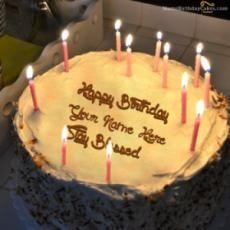Write Name On Candles Birthday Cake Birthday Name Song, Birthday Wishes With Name, Happy Birthday Cake Pictures, Happy Birthday Wishes Cake, Birthday Wishes And Images, Birthday Cakes For Men, Birthday Cards For Friends, Friend Birthday, Birthday Images