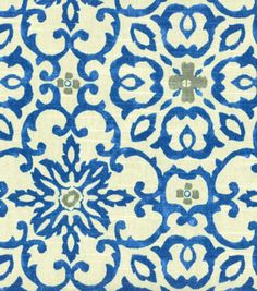 HGTV Home Decor Print Fabric Souvenir Scroll Azure | Quality @HGTV fabric at Joann.com